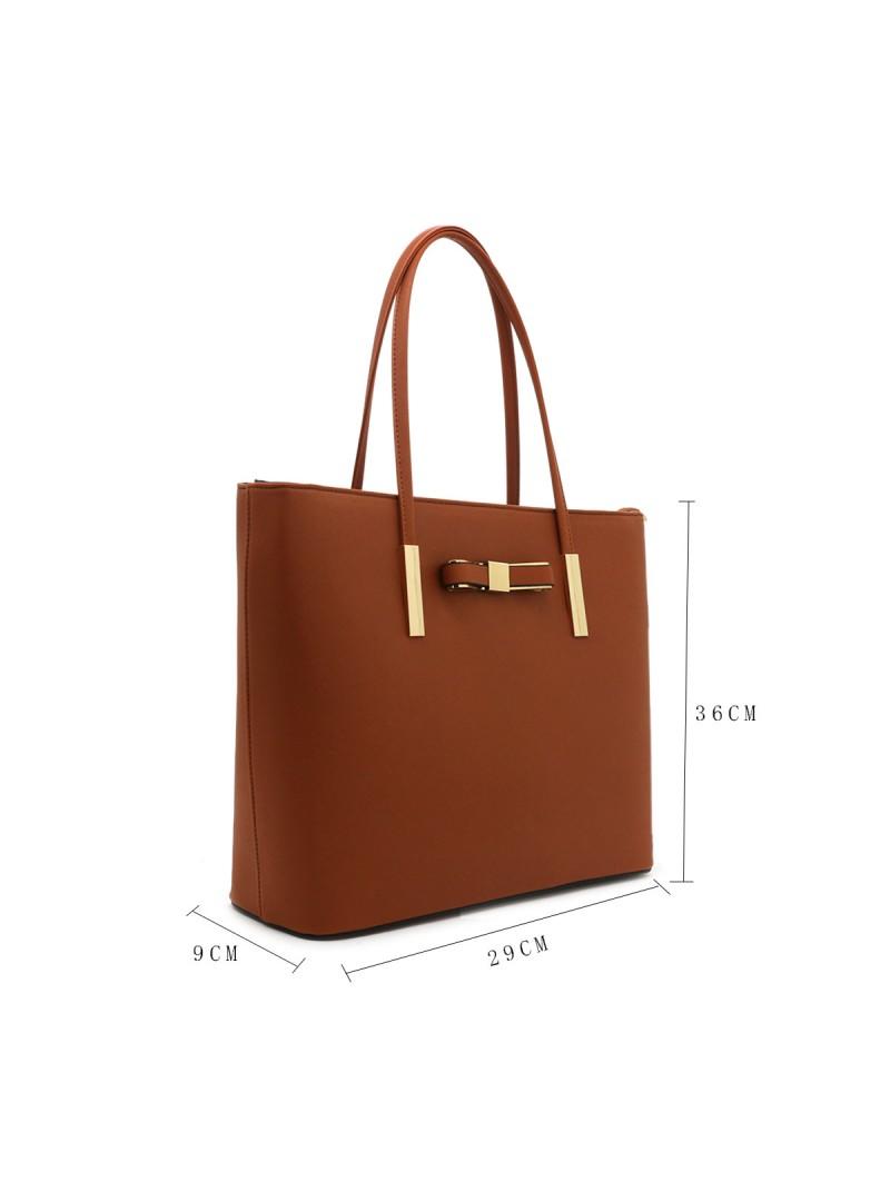 Clara handbag with bow detail tote bag in Brown