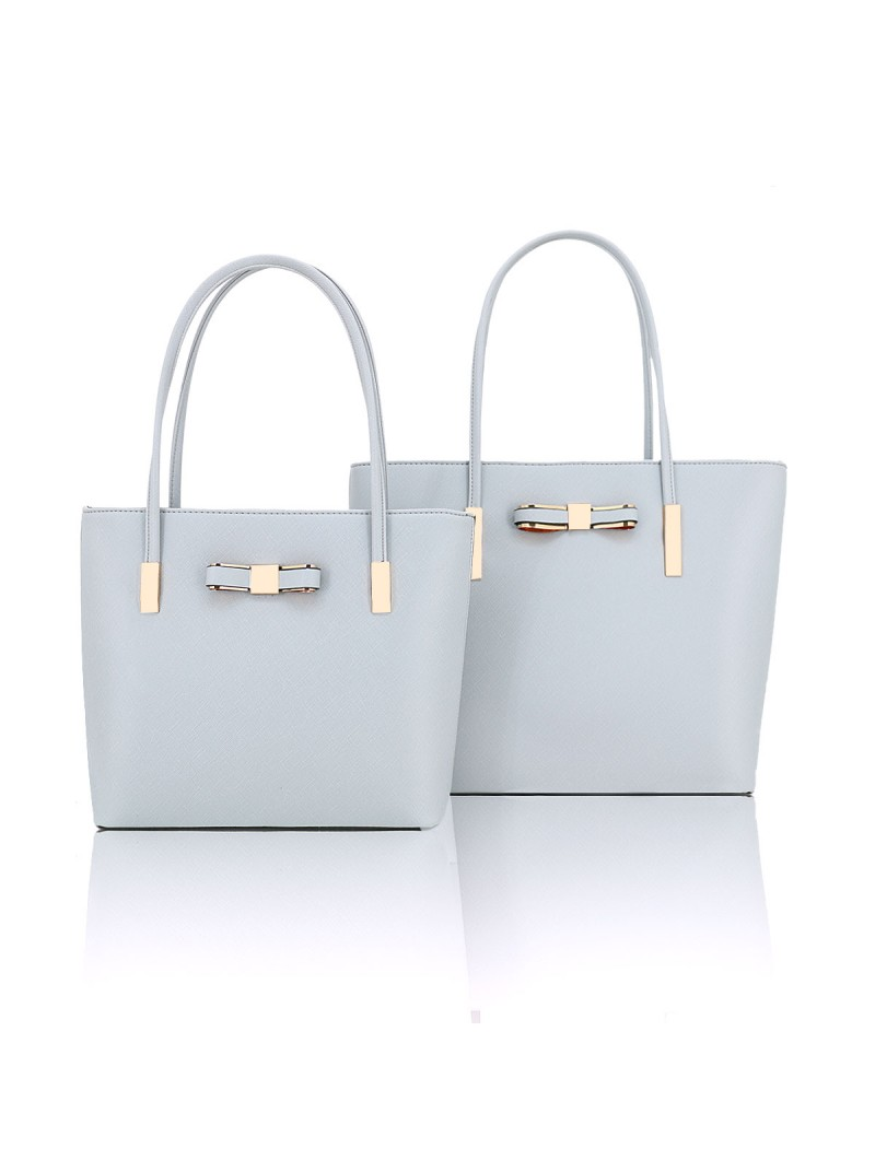 Clara handbag with bow detail tote bag in Light Grey