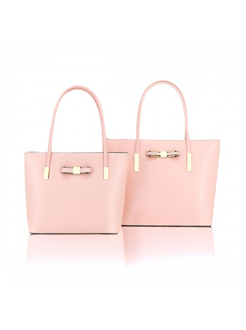 Clara handbag with bow detail tote bag in Pink
