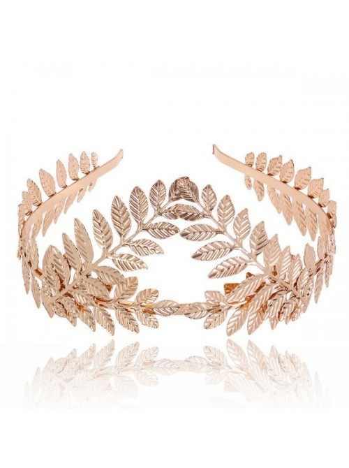 Goddess Leaf Flower Hair Crown Head Piece in Gold