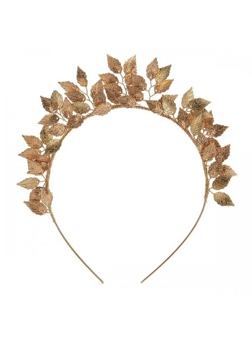 Gold Laurel Leaf Hair Crown