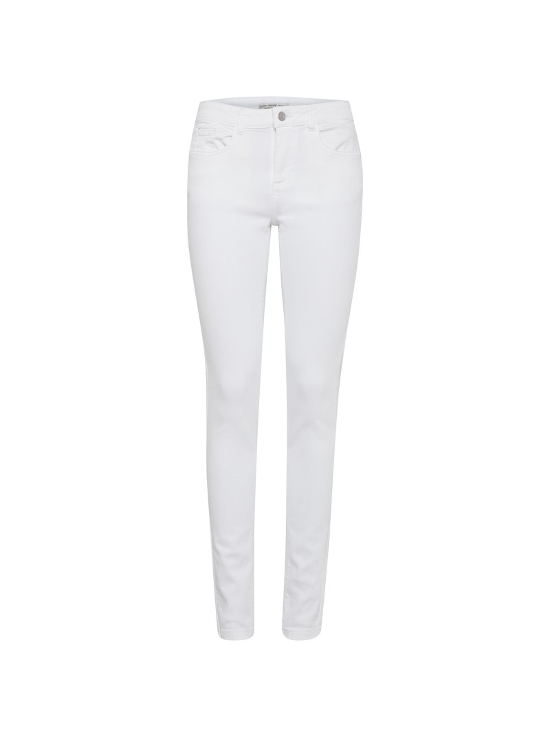 Alexa Optical White Skinny Jeans by b.young