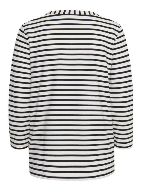 Esther Off White Striped Pullover from b.young