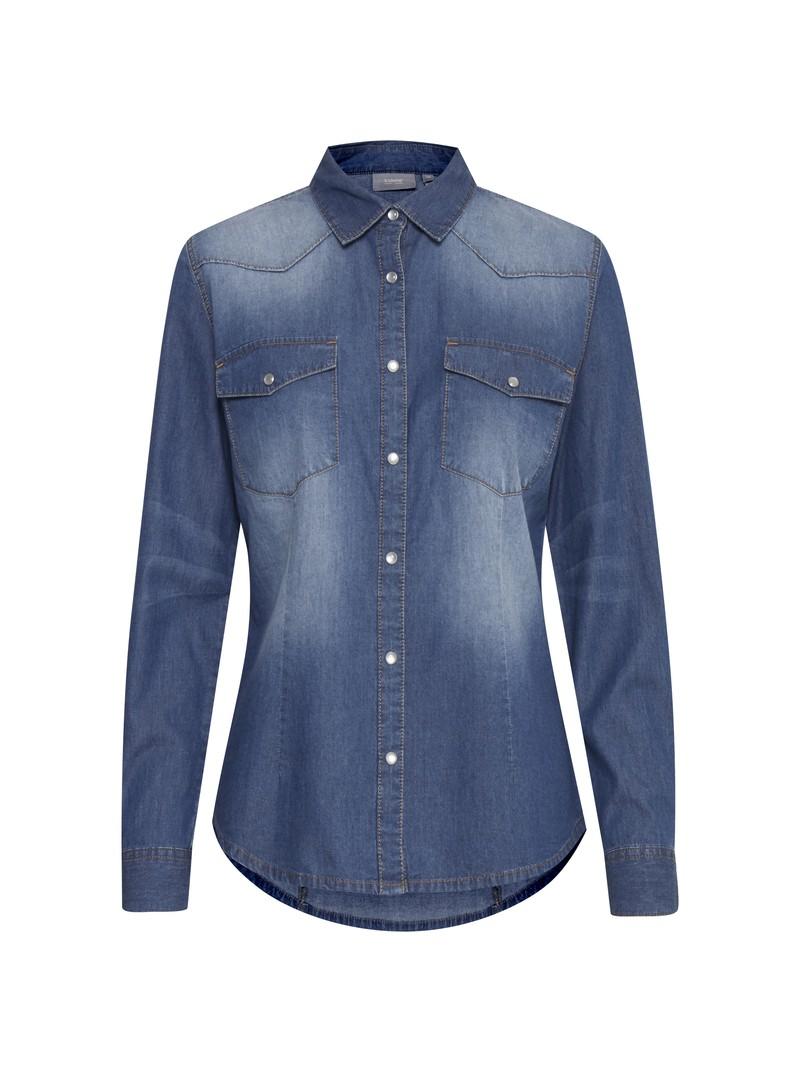 June Blue Denim Western Shirt by b.young