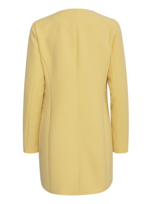 Angela Yellow Long Jacket Coat by b.young
