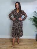 Molly Caramel flower long sleeve maxi dress by b.young