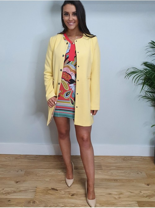 Angela Yellow Long Jacket Coat by b.young
