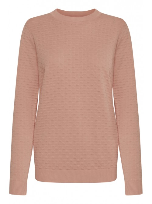 Isla Coral Pink Round Neck Jumper by b.young