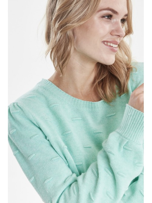 Emma Mint Green Round Neck Jumper by b.young