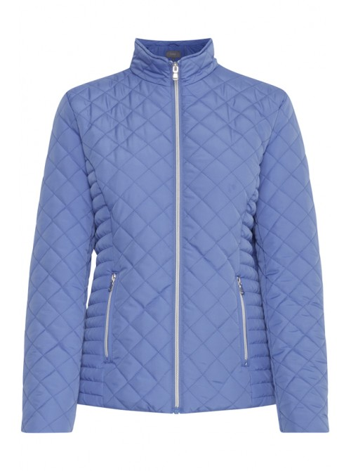 Paige Regatta Blue Short quilted Jacket With Zip pockets by b.young