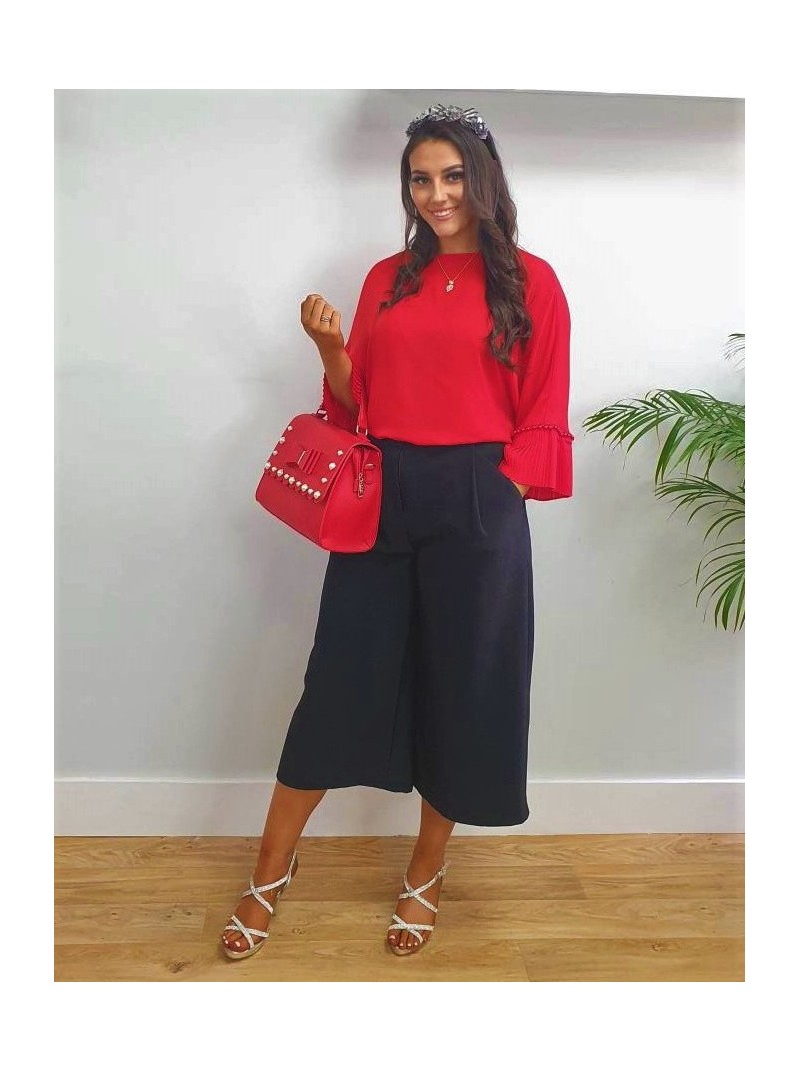 Ava b.young black culottes with pockets