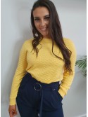 Isla Yellow Round Neck Jumper by b.young